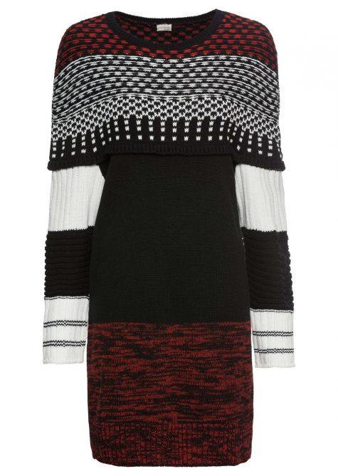 Pletené vzorované šaty