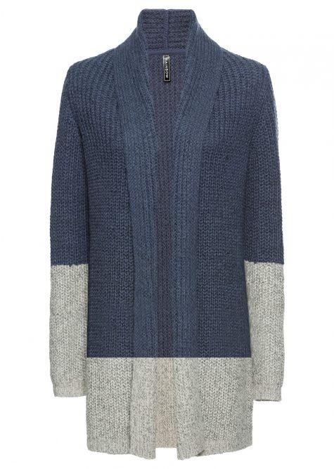 Pletený sveter s colourblocking
