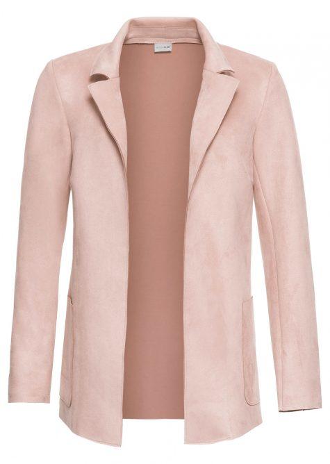 Velúrové koženkové sako