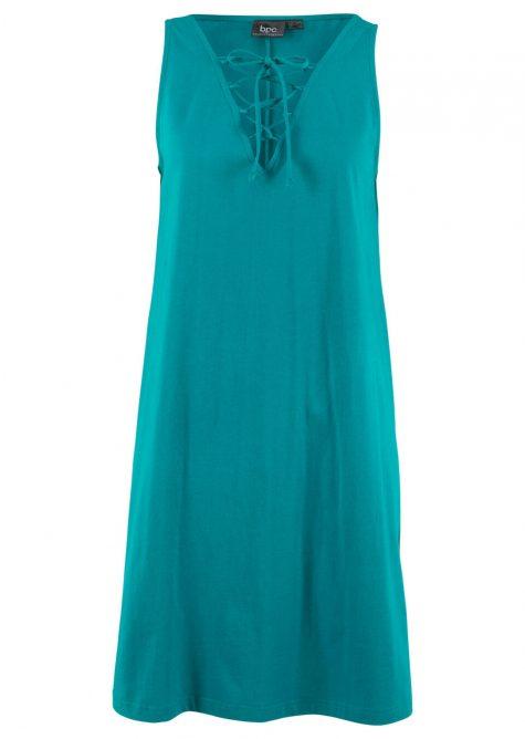 Úpletové šaty so šnurovaním