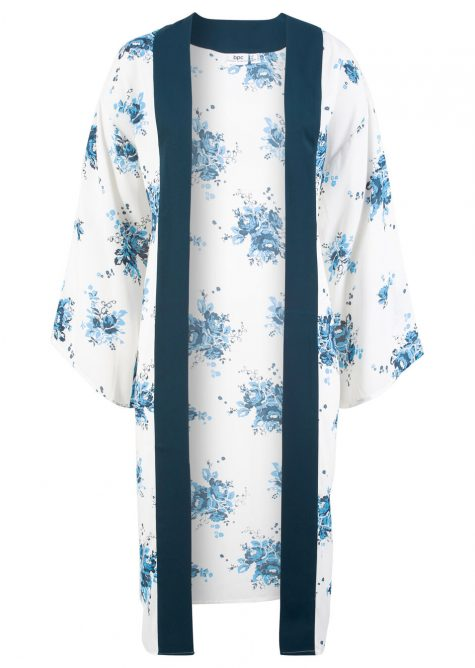 Voľné blúzkové kimono s kratšími rukávmi