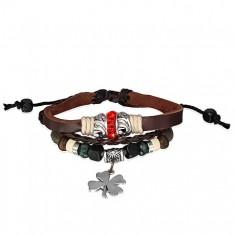 Šperky eshop - Kožený náramok - prepletané šnúrky