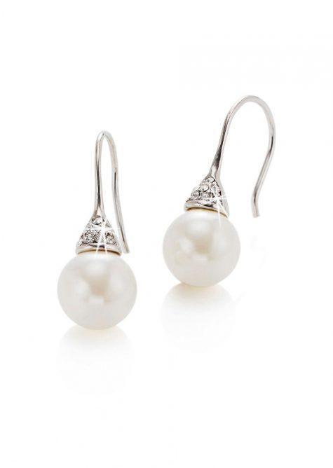 Perličkové náušnice  Šaty s perličkami