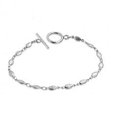 Šperky eshop - Náramok z chirurgickej ocele - oválne očká