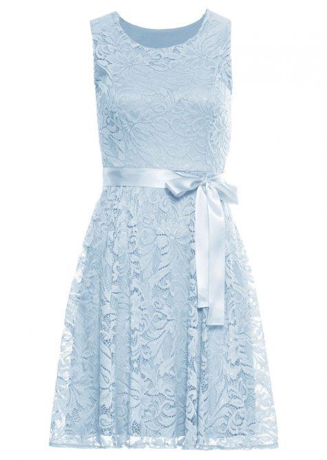 Čipkované šaty so saténovým pásom