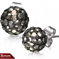 Šperky eshop - Oceľové náušnice Shamballa