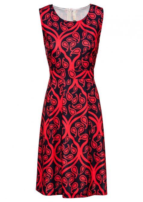Šaty s ornamentovou potlačou