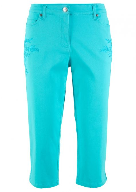 Strečové nohavice - capri  Strečové nohavice pre moletky - lepšie sa prispôsobia postave.