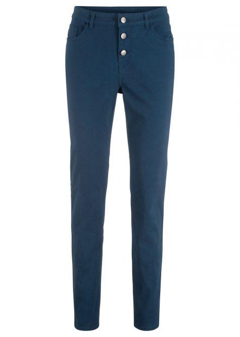 Strečové nohavice s gombičkovou légou  Strečové nohavice pre moletky - lepšie sa prispôsobia postave.