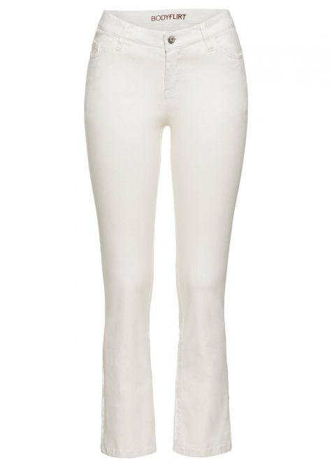 Strečové nohavice s výšivkou