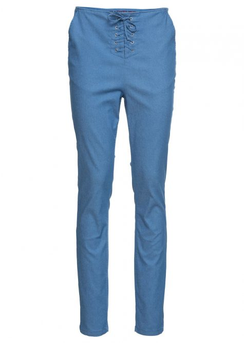 Strečové nohavice so šnurovačkou  Strečové nohavice pre moletky - lepšie sa prispôsobia postave.