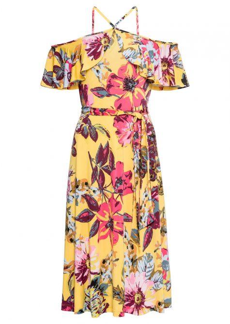 Letné šaty s kvetovanou potlačou