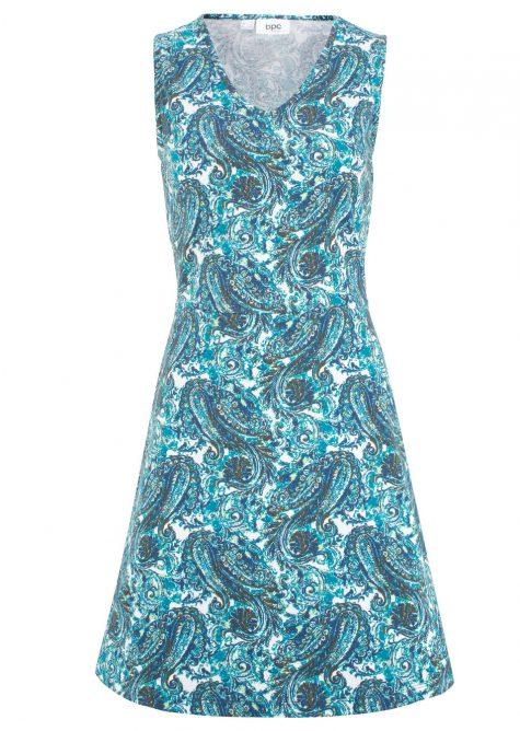 Letné šaty s výstrihom do V