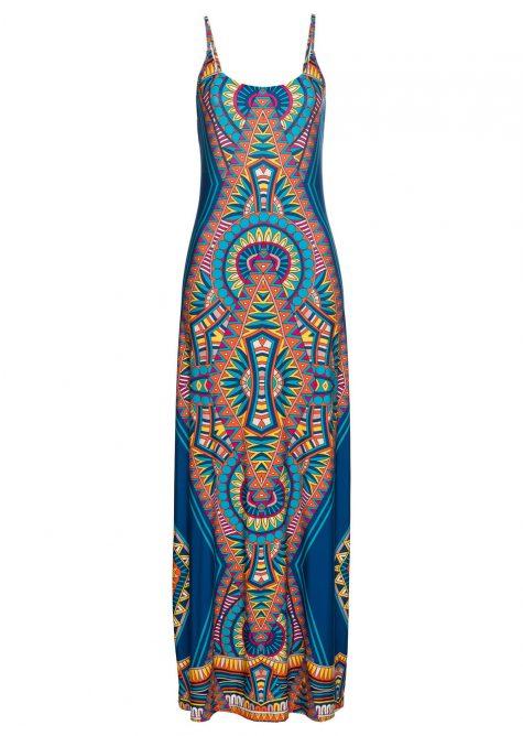 Maxi šaty s potlačou