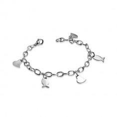 Šperky eshop - Náramok z chirurgickej ocele - širšia retiazka