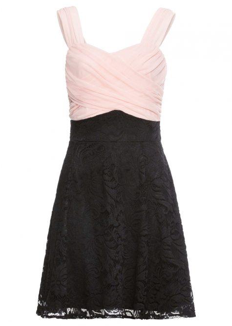 Šaty s čipkovanou sukňou