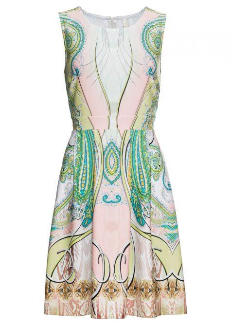 Šaty s motívom paisley