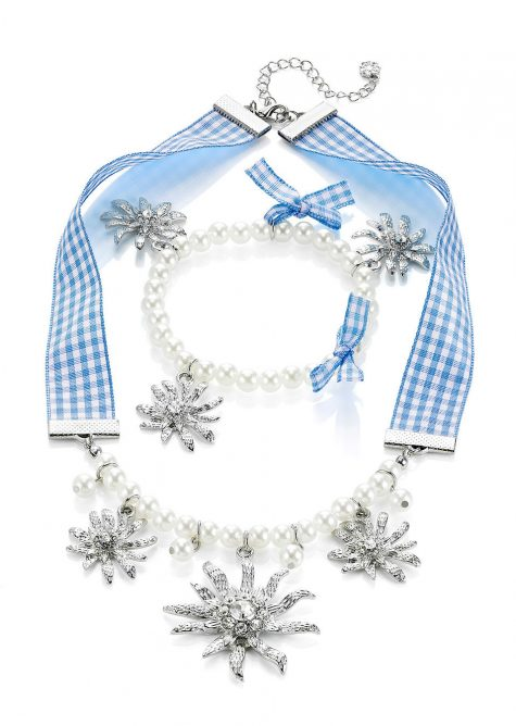 Súprava náhrdelník + náramok + perly  Šaty s perličkami