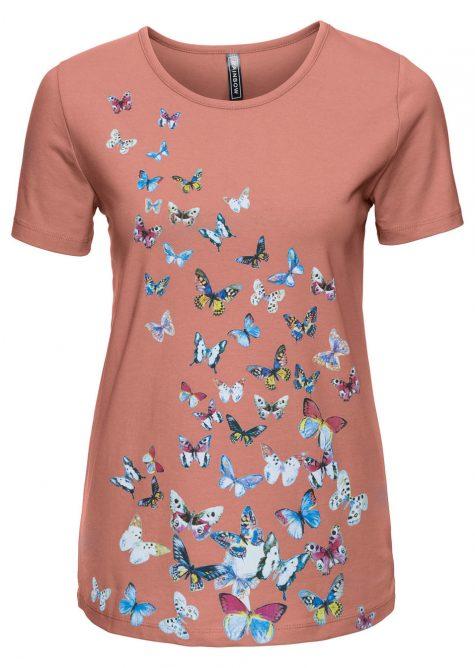 Tričko s potlačou motýľov