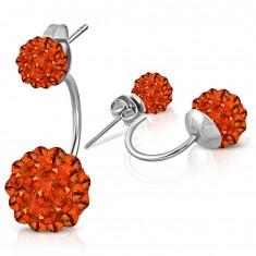 Šperky eshop - Oceľové náušnice striebornej farby
