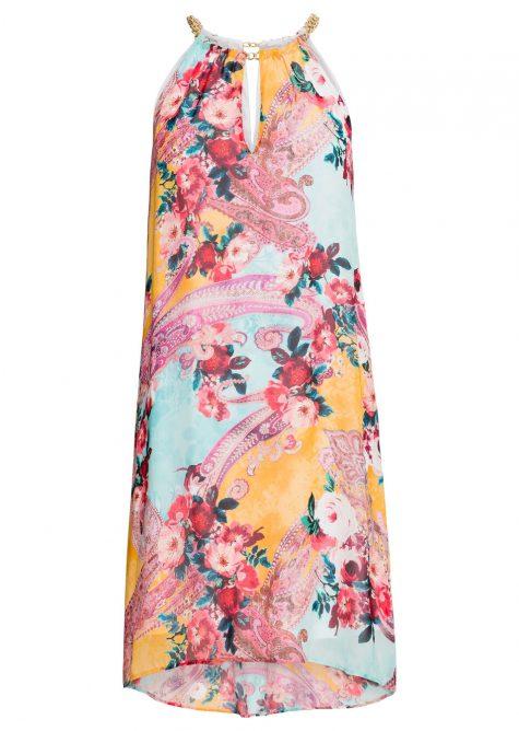 Šaty s kvetovaným vzorom