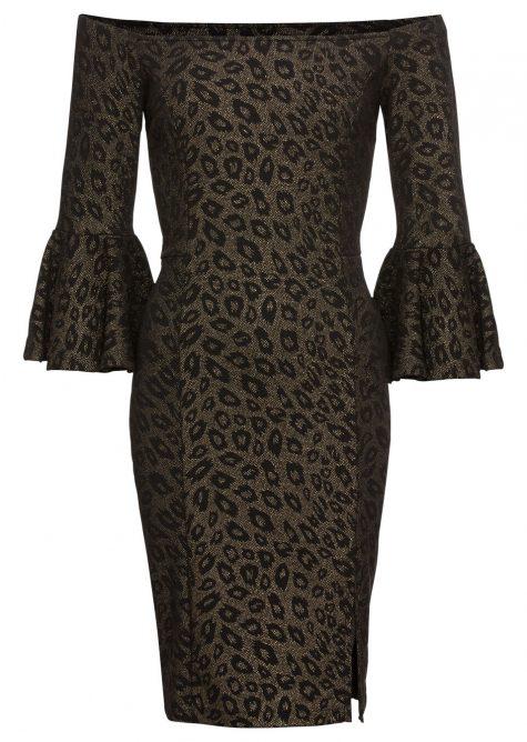 Šaty s leoparďou potlačou