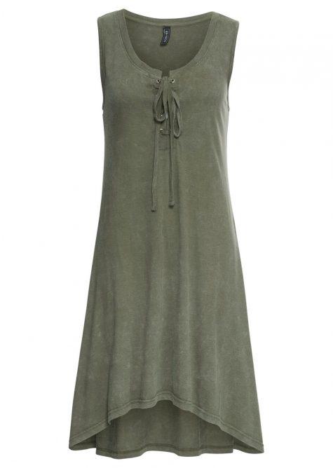 Úpletové šaty so šnurovačkou