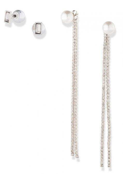 4-dielna sada Perlové náušnice  Šaty s perličkami