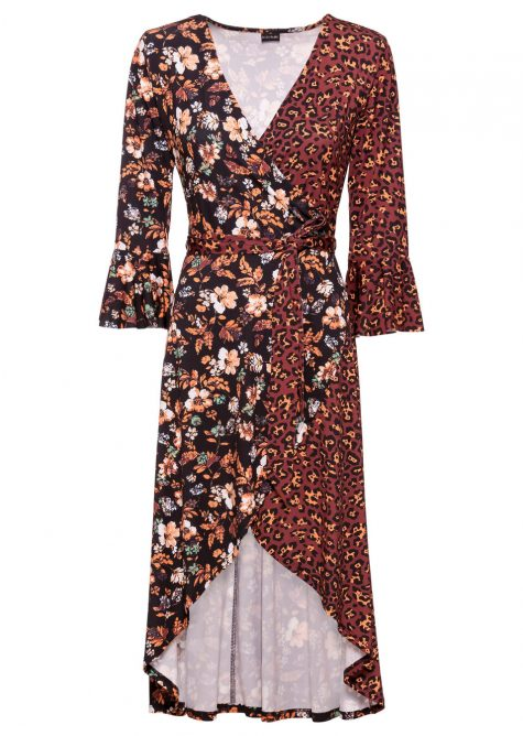 Džersejové šaty so zavinovacím vzhľadom