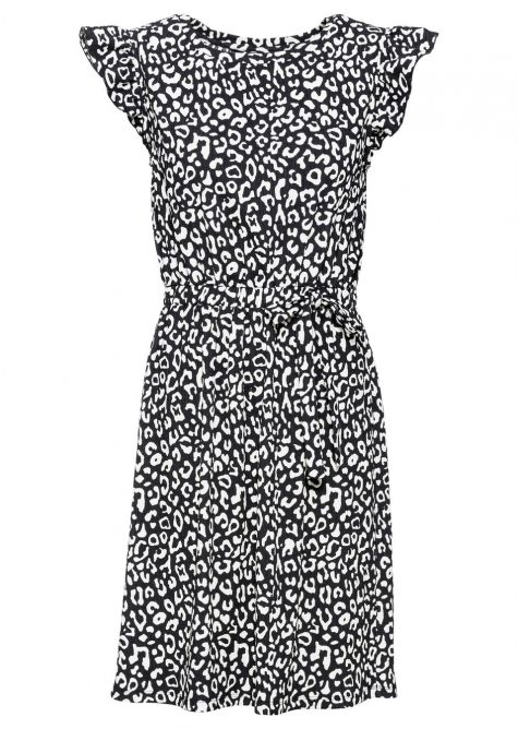 Džersejové šaty so zvieracím dizajnom