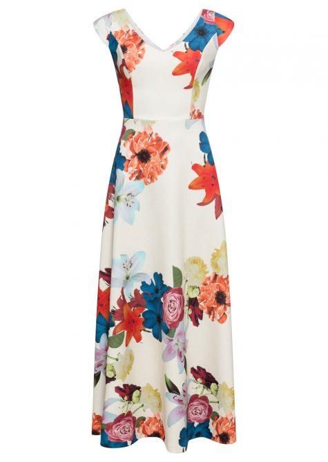 Maxi šaty s kvetinovou potlačou