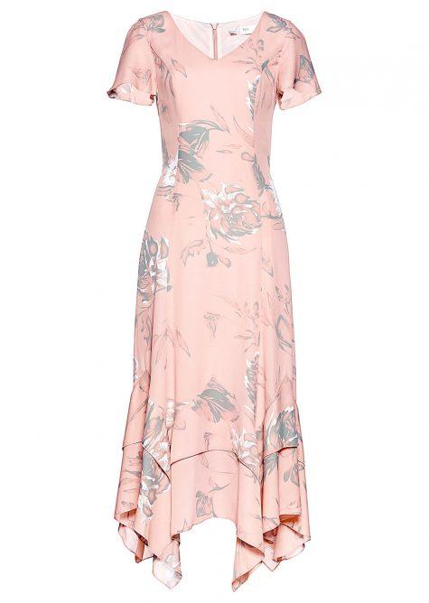 Maxi šaty s kvetovanou potlačou