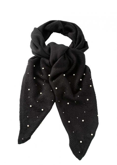 Perličkový šál  Šaty s perličkami