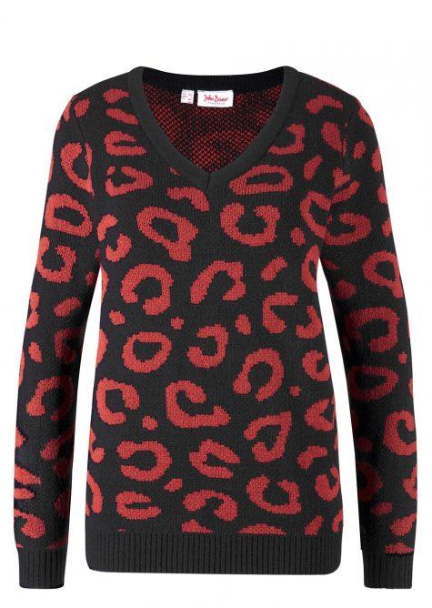 Pulóver s leopardím vzorom