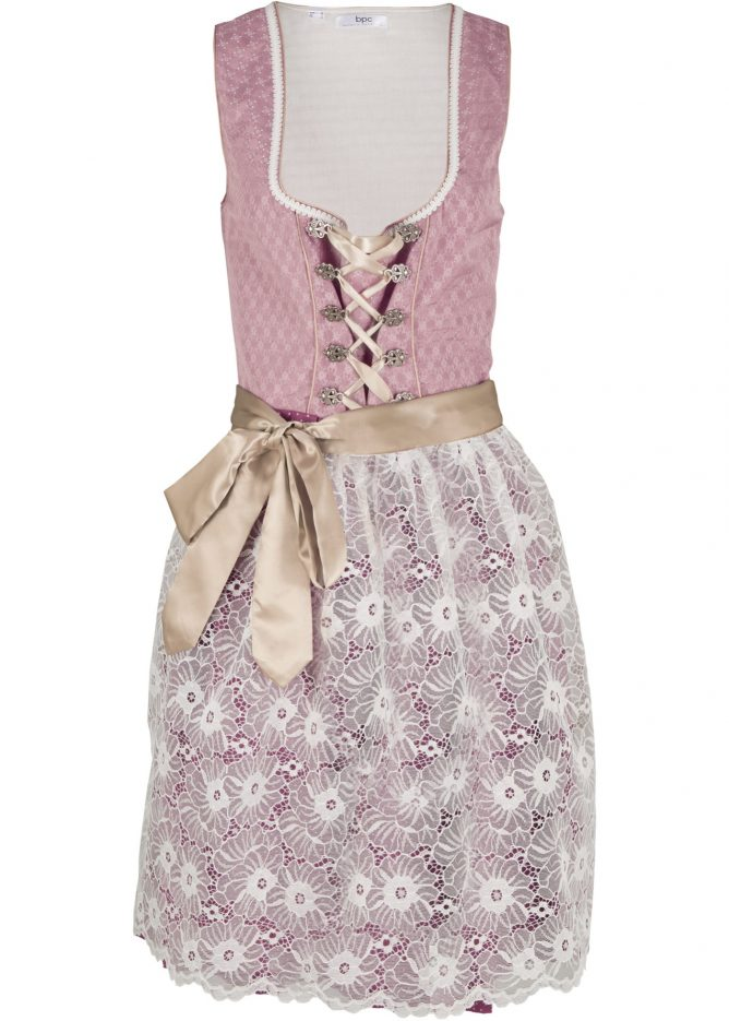 Krojové šaty s čipkovanou zásterou -čipkové šaty pre moletky
