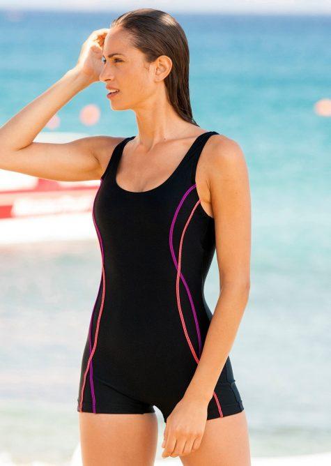 Plavky pre moletky online - Blancheporte Jednodielne plavky s nohavičkami